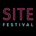 site festival SVA logo pink on black