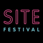 site festival SVA logo pink on black